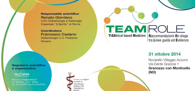 31/10/2014 – TEAM ROLE: come affrontare il passaggio dall' Ambulatorio di Diabetologia Pediatrica al Centro Diabetologico dell'Adulto (proposto da Bayer per noi)