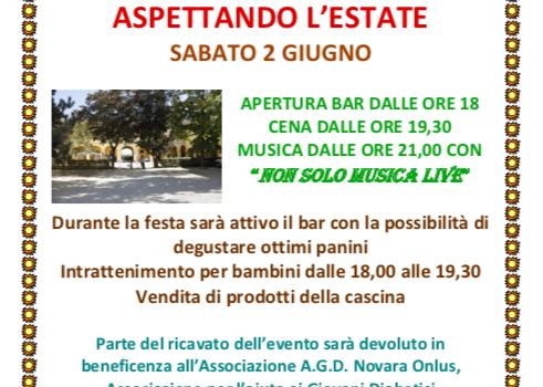 """Evento di Solidarietà a favore di AGD Novara"""